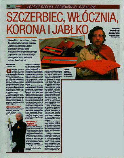 """43. Express Łódzki """"SZCZERBIEC, WŁÓCZNIA, KORONA I JABŁKO"""" ŁÓDZKIE REPLIKI LEGENDARNYCH REGALIÓW 21 maja 2012r."""