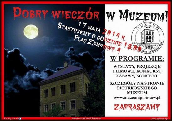 17 V 2014r. NOC MUZEÓW Muzeum w Piotrkowie Trybunalskim